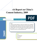 Research Report on China's Cement Industry, 2009