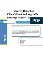 Research Report on China's Fruit and Vegetable Beverage Market, 2009