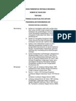 PP NO.82 tahun 2001 tentang Pengelolaan Kualitas Air dan Pengendalian Pencemaran Airs