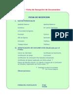 Ficha Recepcion