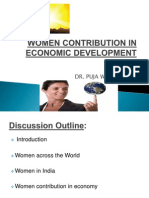 Women Contribution in Economic Development