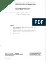 2007 Principles of Accounts