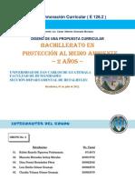 Modelo de Proyecto Curricular a Presentar