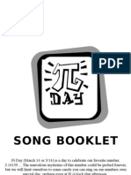 Pi Day Songbook