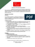 Convocatoria Becas Santander de Movilidad Nacional 2013-2