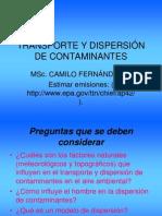 TRANSPORTE Y DISPERSIÓN DE CONTAMINANTES
