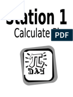 Pi Day Station Signs