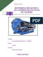 DETERMINACIÒN QUIMICA DE LA DUREZA EN AGUAS DE CALDEROS