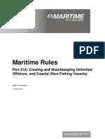 Part31A Maritime Rule