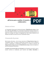 Comunicado Global Service Jam. 1-3 de marzo