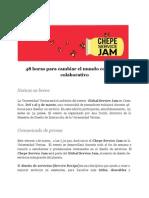 Comunicado Global Service Jam. 1-3 de marzo