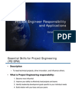 Project Engineering Responsibility and Application