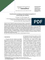 Transformation Mechanism Commercially Pure Titanium