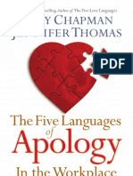 Learn Five Languages of Apology for the Workplace
