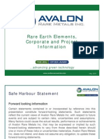 Avalon Rare Metals Presentation