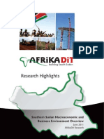Afrikadit Research--South Sudan Macroeconomic and Buiness Enviornment Overview