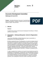 Edinburgh Council Minutes