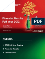 2012 Carlsberg Malaysia Analyst Briefing Full Year Results