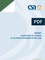 Raport CSA 2008