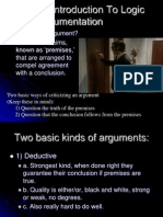 A Brief Introduction To Logic and Argumentation