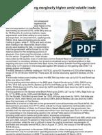 Capitalbuilderstocktips.blogspot.in-sensex Nifty Trading Marginally Higher Amid Volatile Trade