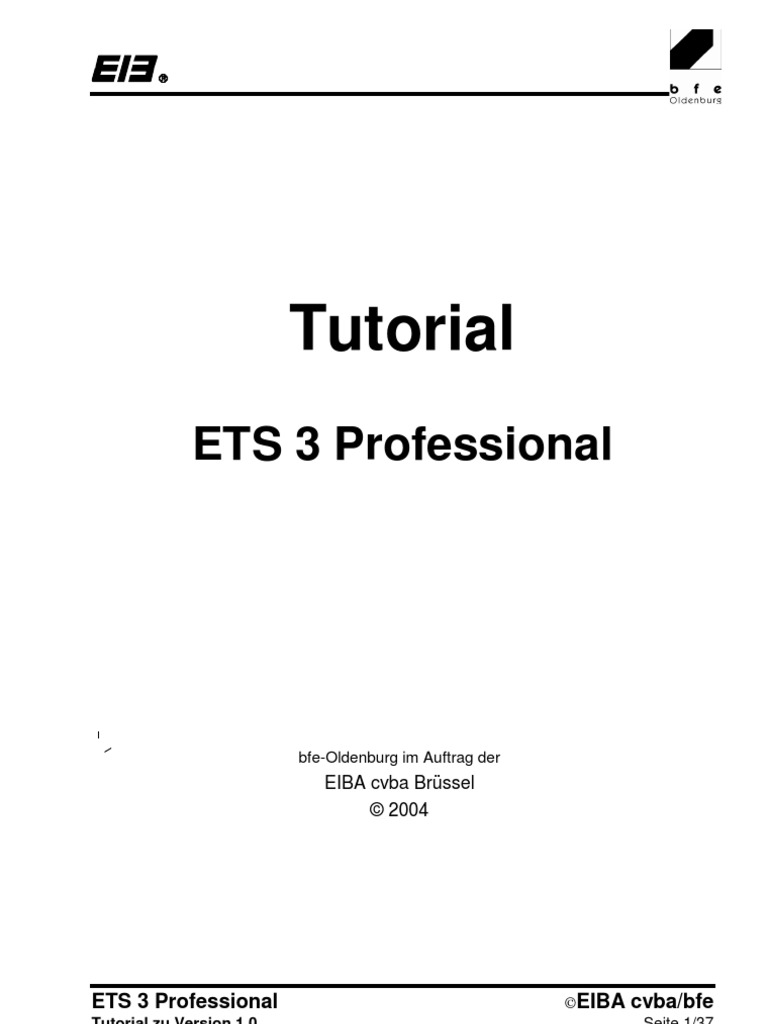 EIB - ETS 3 Professional - Tutorial