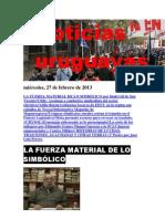 Noticias Uruguayas miércoles 27 de febrero del 2013