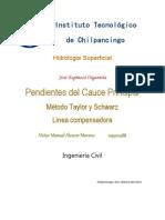 Hidrologia Superficial-PENDIENTES DEL CAUCE PRINCIPAL-Victor Alcocer Moreno
