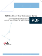 Radwin Tdm Backhaul Over Unlicensed Bands