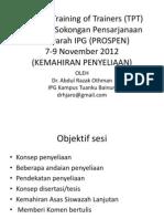 01 Kursus Training of Trainers (TPT) Kemhiran Penyeliaan