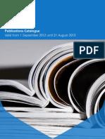 Cambridge Publications Catalogue September 2012