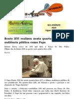 Bento XVI realizou nesta quarta-feira última audiência pública como Papa