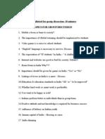 GD Topics