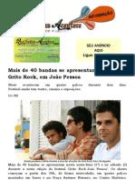 Mais de 40 bandas se apresentam no festival Grito Rock, em João Pessoa