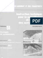 Soutènement - Fascicule 51 - DT299