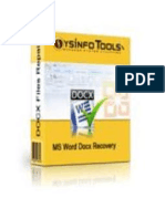 MS Word Docx Repair Software