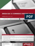 India B2C E-Commerce Report 2013 by yStats.com