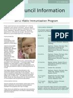 Immunisation Schedule 2012