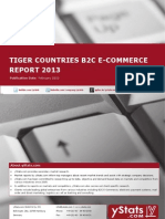 Tiger Countries B2C E-Commerce Report 2013 by yStats.com