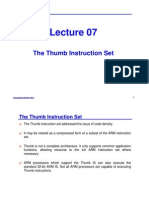 [Lecture-07] the Thumb Instruction Sets