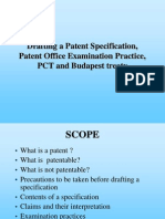 Drafting a Patent Specification