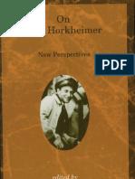 On Max Horkheimer