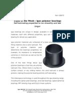 igus polymer bearings