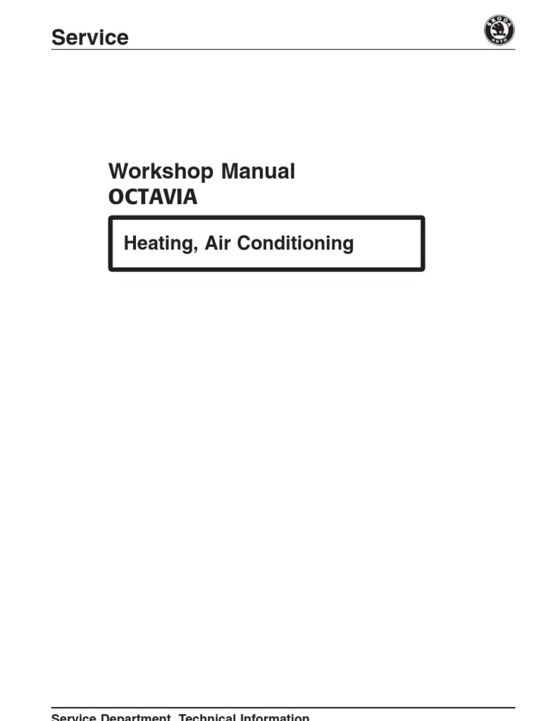 Skoda Octavia Workshop Manual Air Conditioning Hvac