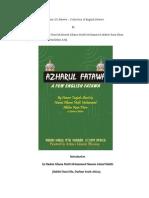 Azhar-Ul-Fatawa by Huzur Tajjush Shariah,Hazrat Allama Muhammad Akhtar Raza Khan Al-Azhari Qadiri(Maddazillahul Aali)