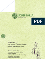Apresentação SCRIPTORIA_2 anos_2013