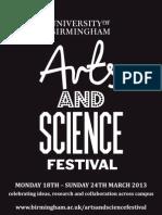 Arts & Science Festival (18-24 March) Ebrochure