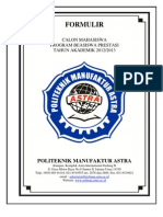 Formulir Beasiswa Prestasi Astra 2012 Rev
