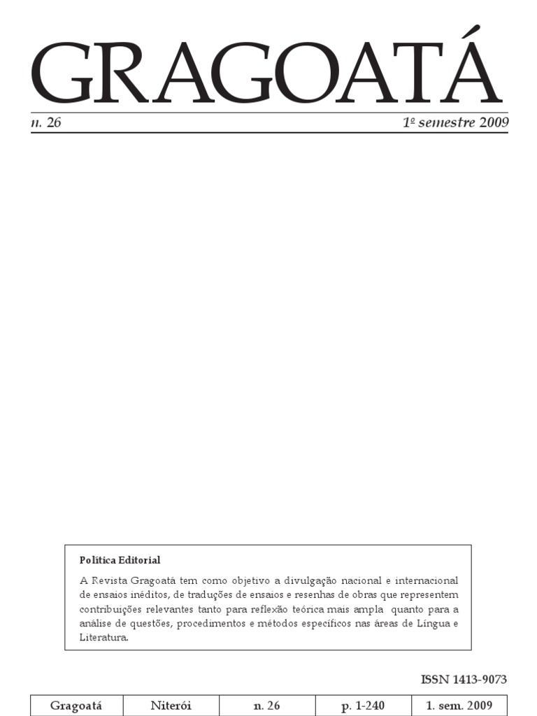 Gragoata20metáfora PDF   PDF   Verdade   Interpretação Linguística