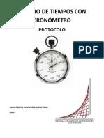 Protocolo Estudio de Tiempos Con Cronometro